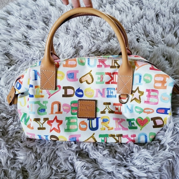 Dooney & Bourke Handbags - Dooney & Bourke Colorful Satchel Rainbow Zipper